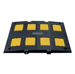 Recycled Rubber Speed Hump - Yellow / Black Single Lane or Double Lane
